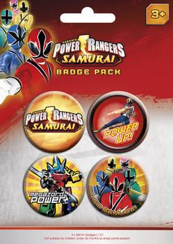 Значка комплект 4 броя POWER RANGERS - pack 1