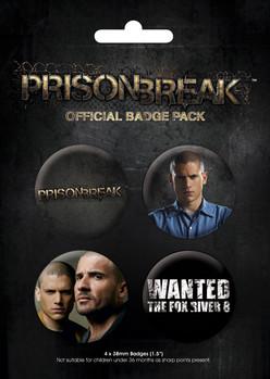 Значка комплект 4 броя PRISON BREAK