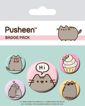 Значка комплект 4 броя Pusheen - Pusheen Says Hi