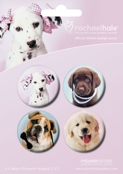 Значка комплект 4 броя RACHAEL HALE - Dogs 2