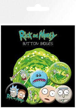 Значка комплект 4 броя Rick & Morty - Characters