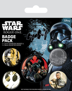 Значка комплект 4 броя Rogue One: Star Wars Story - Rebel