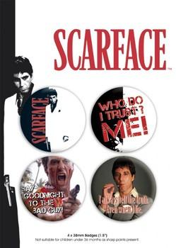 Значка комплект 4 броя SCARFACE - pack 1
