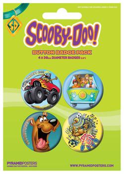 Значка комплект 4 броя SCOOBY DOO - Boy