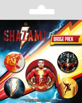 Значка комплект 4 броя Shazam - Power