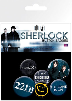 Значка комплект 4 броя SHERLOCK - mix
