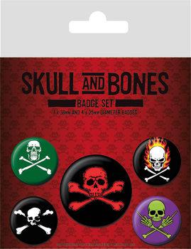 Значка комплект 4 броя Skull and Bones