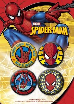 Значка комплект 4 броя SPIDER-MAN 1