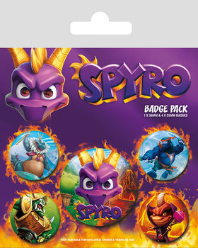 Значка комплект 4 броя Spyro - Reignited Characters