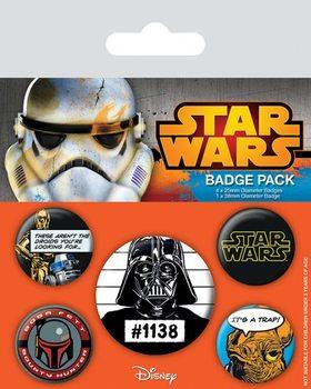 Значка комплект 4 броя Star Wars - Cult