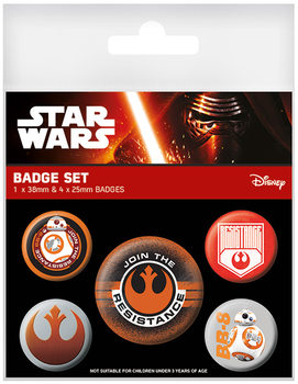 Значка комплект 4 броя Star Wars Episode VII - Resistance