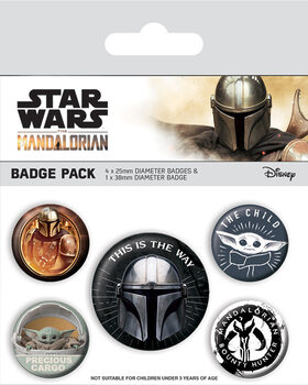 Значка комплект 4 броя Star Wars: The Mandalorian - This Is The Way