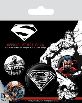 Значка комплект 4 броя Superman - Dark
