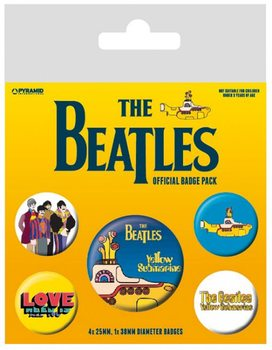 Значка комплект 4 броя The Beatles - Yellow Submarine