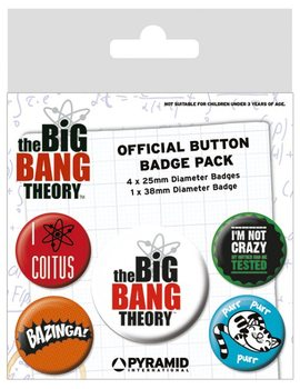 Значка комплект 4 броя The Big Bang Theory - Logo