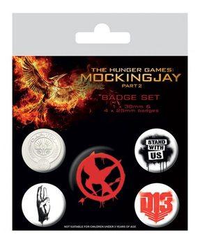 Значка комплект 4 броя The Hunger Games Mockingjay Part 2 - Revolution
