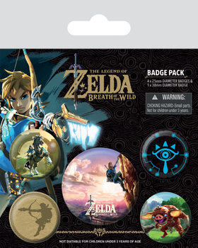 Значка комплект 4 броя The Legend of Zelda Breath Of The Wild - The Climb