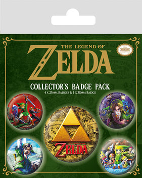 Значка комплект 4 броя The Legend Of Zelda - Classics