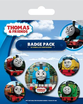 Значка комплект 4 броя Thomas & Friends - The Faces of Sodor
