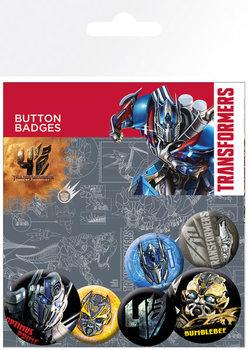 Значка комплект 4 броя Transformers 4: Age of Extinction