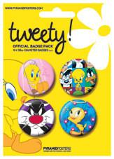 Значка комплект 4 броя TWEETY - looney tunes