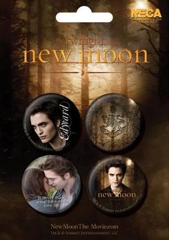Значка комплект 4 броя TWILIGHT NEW MOON - edward