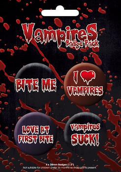 Значка комплект 4 броя VAMPIRE GB Pack