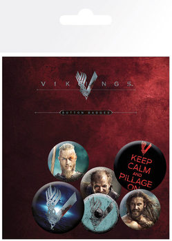 Значка комплект 4 броя Vikings - Mix