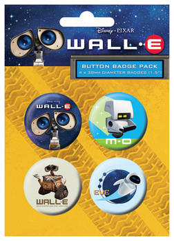 Значка комплект 4 броя WALL-E