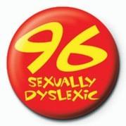 96 (SEXUALLY DYSLEXIC) Значки за обувки