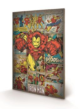 Изкуство от дърво Marvel Comics - Iron Man Retro