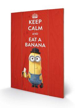 Изкуство от дърво Minions - Keep Calm