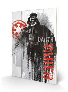 Изкуство от дърво Rogue One: Star Wars Story - Darth Vader Grunge