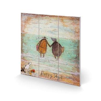 Изкуство от дърво Sam Toft - Happy Days