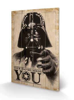 Изкуство от дърво Star Wars - Your Empire Needs You