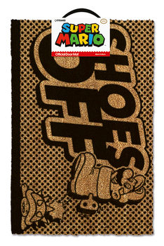 Super Mario - Shoes Off Black Изтривалка за крака