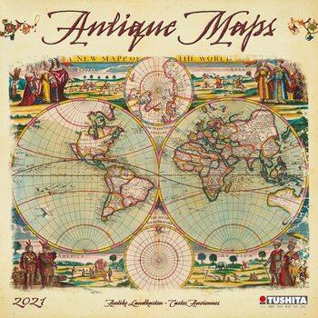Календар 2021 Antique Maps