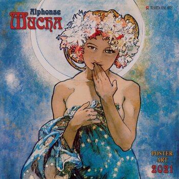 Календар 2021 Alphonse Mucha - Poster Art