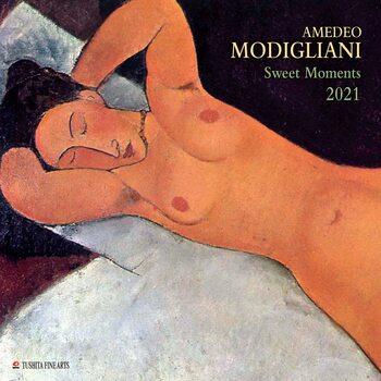 Календар 2021 Amedeo Modigliani - Sweet Moments