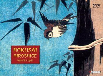 Календар 2021 Hokusai / Hiroshige - Nature's Spell