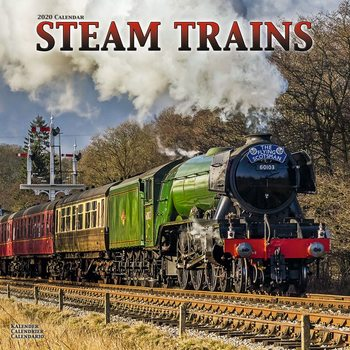 Календар 2020  Steam Trains