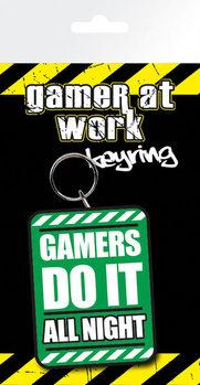 Gaming All Night Ключодържатели - гумени