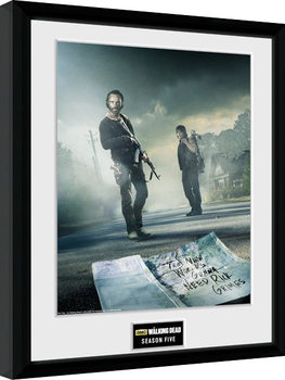 Плакат у рамці The Walking Dead - Season 5