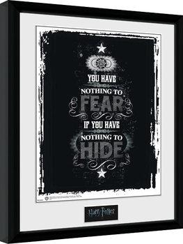 Harry Potter - Fear Плакат у рамці