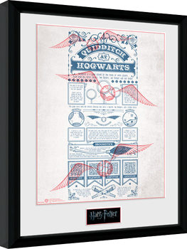 Harry Potter - Quidditch at Hogwarts Плакат у рамці