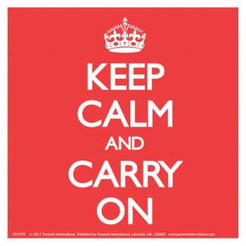 KEEP CALM AND CARRY ON - red Лепенки