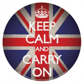 KEEP CALM AND CARRY ON - union jack Лепенки