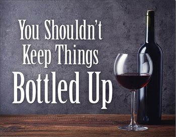 Bottled Up Металевий знак