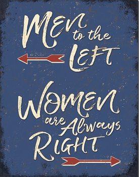 Men to the Left Металевий знак