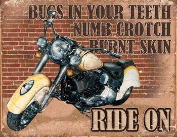 Ride On Металевий знак